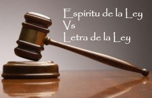 letra vs espiritu ley